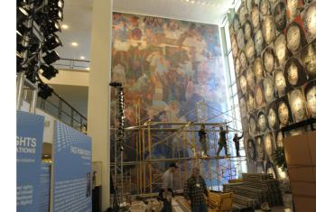 """""""War and Peace"""" mural."""