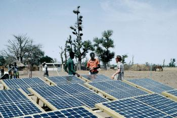 Solar volatic panels in Thies, Senegal.