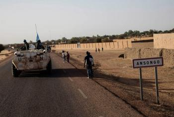 UN peacekeepers in Ansongo, Mali.