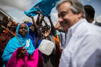 High Commissioner for Refugees António Guterres meeting with Somali refugees at Dadaab camp in Kenya, in May 2015. File