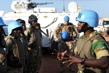 UN peacekeepers on patrol in Sudan's Abyei region. UN File Photo/Tim McKulka