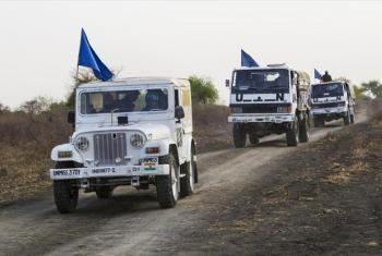 Peacekeepers with the UN Mission in South Sudan (UNMISS) in Jonglei state.
