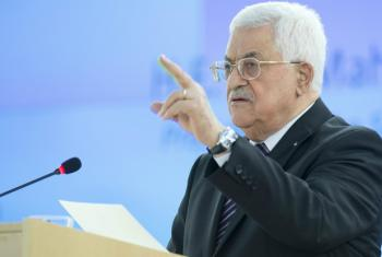 Mahmoud Abbas appealed for help from the international community at the UN Human Rights Council in Geneva.