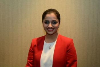 Fiza Farhan, co-founder and CEO of the Buskh Foundation, at the N-Peace Awards Ceremony.