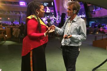 Daniel Dickinson interviewing Kiaama Hudson.