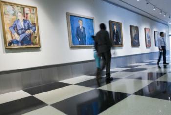 Portraits of the Secretaries-General, UN Headquarters in NY.