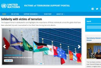 The Support Portal is dedicated to and highlights the importance of those individuals across the globe that have been attacked, injured, traumatized or lost their lives during terrorist attacks. Image: United Nations
