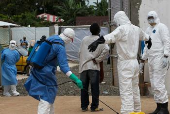 A treatment centre for Ebola victims run by the World Health Organization, which says it is working with authorities in Guinea to bring cases down to zero.