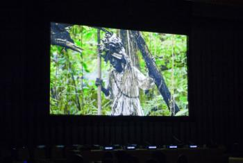"World Premiere screening of ""Queen Nanny: Legendary Maroon Chieftainess"" at UN headquarters in New York."