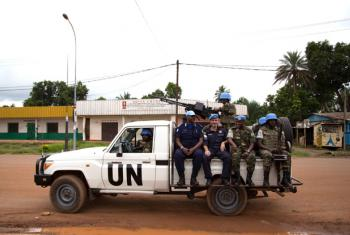 UN Multidimensional Integrated Stabilization Mission in the Central African Republic (MINUSCA) patrols the streets of Bangui. UN File Photo/Nektarios Markogiannis