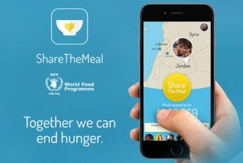 ShareTheMeal app raises money for Syrian refugee children in Jordan. Image: World Food Programme (WFP)