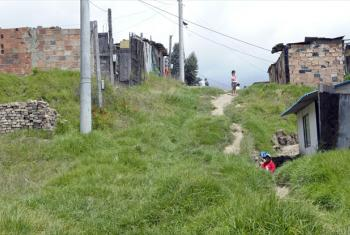 A view of Soacha, an impoverished suburb of Bogotá, Colombia.
