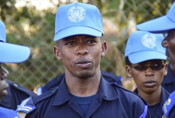Police officers from Rwanda.