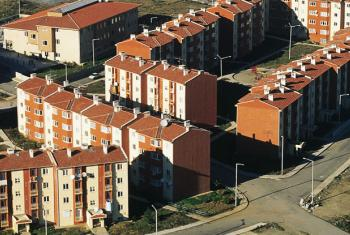 Residential flats in Istanbul, Turkey.