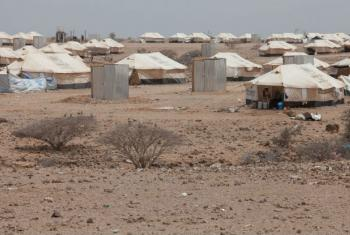 General view of the Markazi refugee camp, Djibouti.