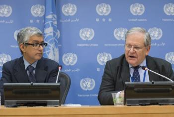Press Briefing with Mark Bowden (right), Deputy Special Representative of the Secretary-General for Afghanistan.