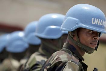 Members of the Nigerian battalion of the United Nations-African Union Mission (UNAMID).