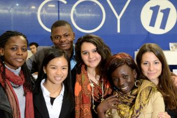 UNICEF youth climate advocates attend the UN climate change conference in Paris, France. 2 December 2015.