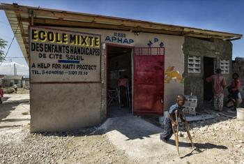School for children with disabilities in Haiti.