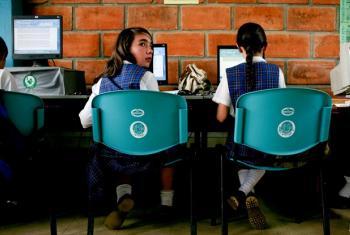 A computer class at San Jose, a rural secondary school in La Ceja del Tambo, Antioquia, Colombia.