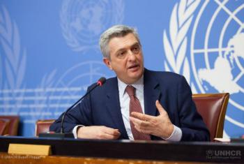 UNHCR's High Commissioner Filippo Grandi speaks at his first press conference as head of the agency.