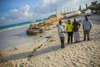 Young men in Mogadishu, Somalia.