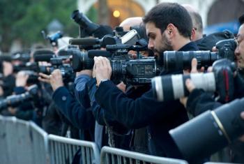 Journalists in Geneva.