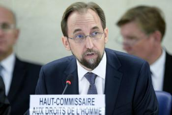 UN Human Rights Commissioner Zeid Ra'ad Al Hussein.