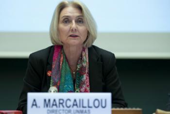Agnès Marcaillou, director of the UN Mine Action Service (UNMAS).