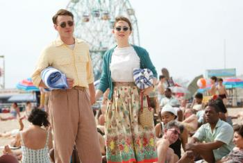 Our first podcast focused on migration, using the film 'Brooklyn' as the starting point. It starred Emory Cohen (left) as Tony and Saoirse Ronan as Eilis. Photo by Kerry Brown. © 2015 Twentieth Century Fox Film Corporation. All Rights Reserved.
