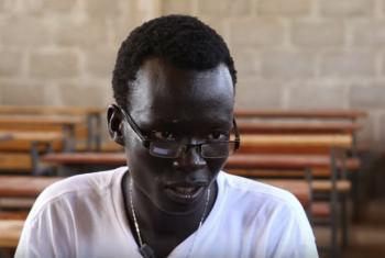 Lim Bol Thong at 21, is a vice principal of a school at Kule refugee camp in Ethiopia.