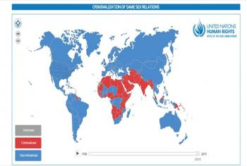 Interactive map. Source: Screen grab from UN Free & Equal website.