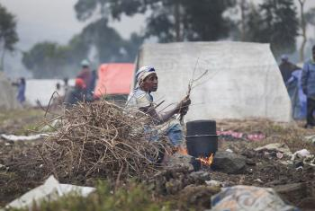 A displaced woman in Kanyaruchinya, north of Goma, Democratic Republic of the Congo, (DRC).