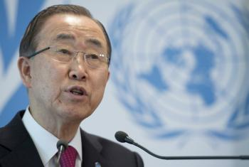 UN Secretary-General, Ban Ki-moon, who opened the UNHCR meeting on Syrian refugees in Geneva.