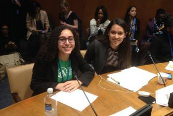 Pooja Nagpal, right, at the Working Group on Girls session.