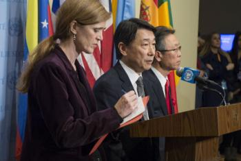 Stakeout after Security Council meeting on Non-proliferation/Democratic People's Republic of Korea.