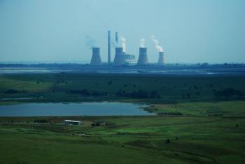 View of a coal-fired plant in Mpumalanga, South Africa.