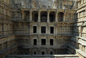 UNESCO World Heritage Site Rani-ki-Vav (the Queen's Stepwell) at Patan, Gujarat in India.