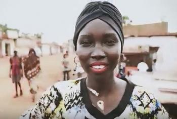 Mari Malek. (Screen grab from UNICEF Africa Video)