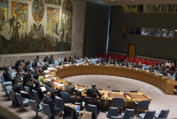 A wide view of the Security Council meeting on peace consolidation in West Africa.
