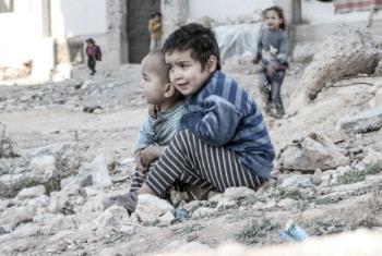 Children in the city of Aleppo, Syria.