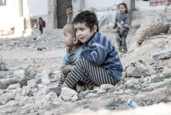 Children in the city of Aleppo, Syria.