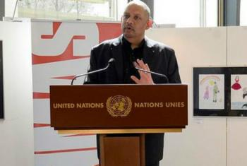 Bruno Donat from UNMAS, the United Nations Mine Action Service (UNMAS).
