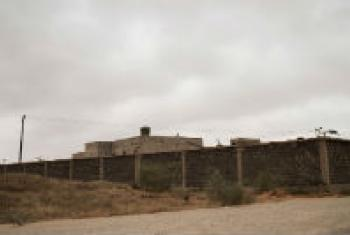 An exterior view of the Zawiya detention in Libya.