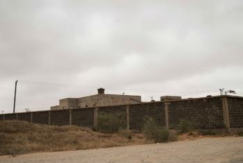 An exterior view of the Zawiya detention centre near Tripoli, the capital of Libya.