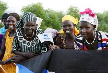 Displaced Somali women residing at the Ifo 2 Refugee Camp in Dadaab, Kenya, which is supported by the United Nations High Commissioner for Refugees (UNHCR).