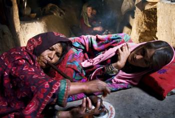 Afghan opium smokers.