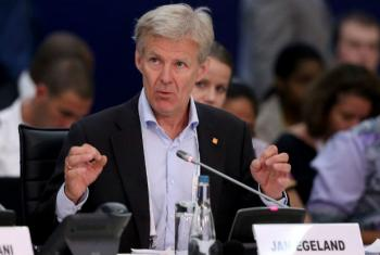 Jan Egeland, Secretary-General of the Norwegian Refugee Council and Special Advisor to the UN Envoy for Syria, at the World Humanitarian Summit in Istanbul, Turkey.