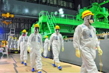 IAEA experts visiting TEPCO's Fukushima Daiichi Nuclear Power Station in November 2013. File