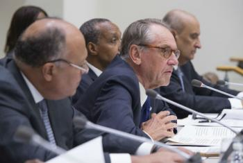 "Jan Eliasson, UN Deputy Secretary-General at the opening of high-level meeting on ""Sustaining Peace: Mechanisms, Partnerships and the Future of Peacebuilding in Africa."